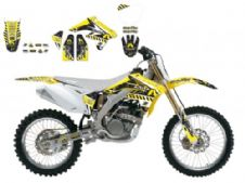 New Suzuki RMZ 250 07 08 09 ARMA ENERGY SERIES GRAPHIC KIT BLACKBIRD 2314F